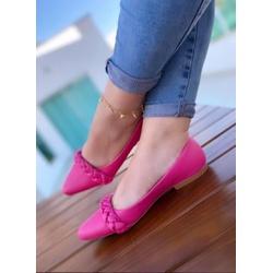 Sapatilha com Trança Pink