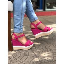 Anabela Rosa Color - PED021 - Talline Sapatilhas Atacado