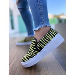 SlipOn Zebra Amarelo Novo
