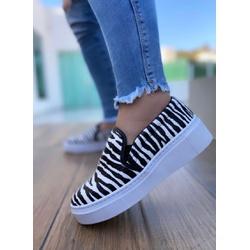 SlipOn Zebra Branco Novo