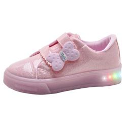 Tênis Infantil Feminino WorldColors Star Light com LED