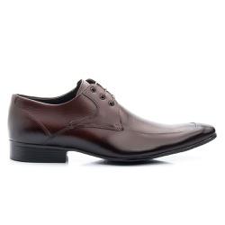 Sapato Social Com Cadarço Solado De Borracha