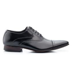 Sapato Clássico Masculino De Amarrar Solado De Couro