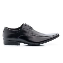 Sapato Social Masculino De Amarrar Solado Em Borracha