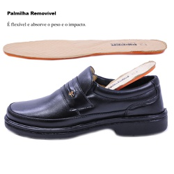 Sapato Social Masculino em Couro Pipper 6003 Preto... - SAPATO DE FRANCA