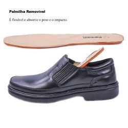 Sapato Social Masculino em Couro Pipper 6007 Preto... - SAPATO DE FRANCA