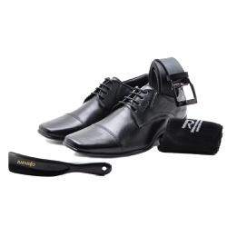 Kit 4 em 1 Sapato Social em Couro Rafarillo