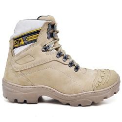 Bota Coturno Stop Boots - R2902 - Nude - 1083 - SAPATO DE FRANCA
