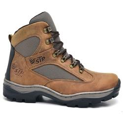 Bota Coturno Stop Boots - R45 - Crazy Horse - Cafe... - SAPATO DE FRANCA