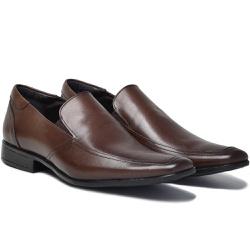 Sapato Social em Couro Cor Café Ref. 1426-1014-01 - Sapatos de Franca