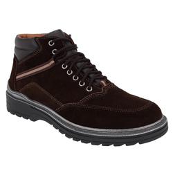 Coturno Masculino em Couro Savana Café Ref. 1465-0... - Sapatos de Franca