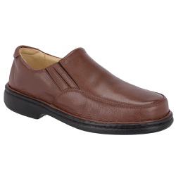 Sapato Anti-Stress em Couro Cor Chocolate Ref.1418... - Sapatos de Franca
