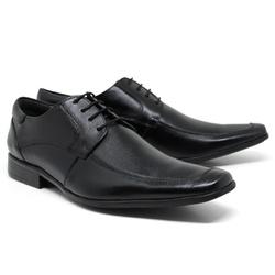 Sapato Social em Couro Cor Preto Ref. 1428-1017 - Sapatos de Franca
