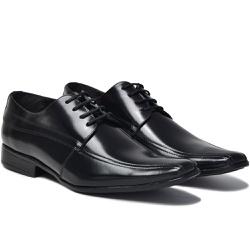 Sapato Social em Couro Cor Preto Ref. 1429-1022 - Sapatos de Franca