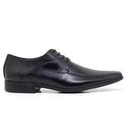Sapato Social em Couro Cor Preto Ref. 1430-1064 - Sapatos de Franca