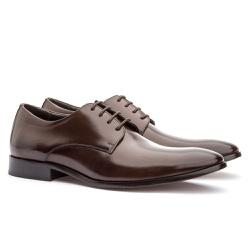 Sapato Social Masculino em Couro Café - Sapatos de Franca