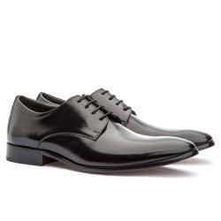 Sapato Social Masculino em Couro Preto - Sapatos de Franca