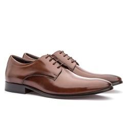 Sapato Social Masculino em Couro Whisky - Sapatos de Franca