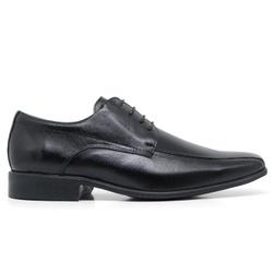 Sapato Social em Couro Cor Preto Ref. 1420-143 - Sapatos de Franca