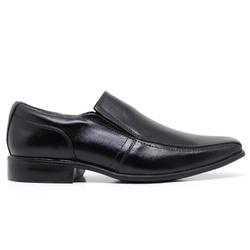 Sapato Social em Couro Cor Preto Ref. 1421-170 - Sapatos de Franca