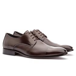 Sapato Social Masculino Café Premium - Sapatos de Franca