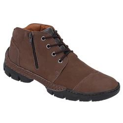 Coturno Masculino Conforto em Couro cor Chocolate ... - Sapatos de Franca