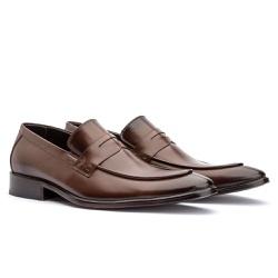Sapato Loafer Masculino em Couro Premium Mouro - Sapatos de Franca