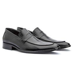 Sapato Loafer Masculino Em Couro Premium Preto - Sapatos de Franca