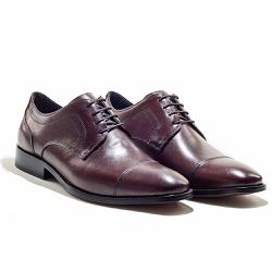 Sapatos Social Masculino em Couro cor Mahogany - Sapatos de Franca