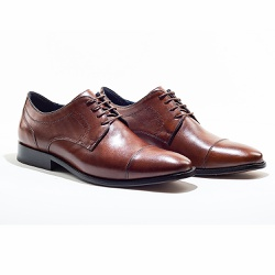 Sapato Social Masculino em Couro cor Tan - Sapatos de Franca