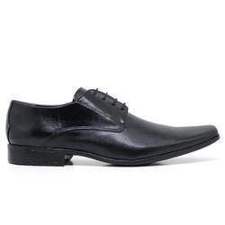 Sapato Social em Couro Cor Preto Ref. 1431-2316 - Sapatos de Franca