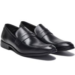 Sapato Social em Couro Cor Preto Ref. 1432-2964 - Sapatos de Franca