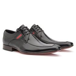 Sapato Social Derby Preto - Sapatos de Franca