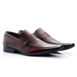 Sapato Social Clássico em Couro Legitimo Cor Mour... - Sapatos de Franca