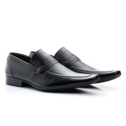 Sapato Social Clássico Em Couro Legitimo Cor Preto... - Sapatos de Franca