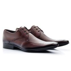 Sapato Social Classic Tipo Italiano Em Couro Mouro - Sapatos de Franca