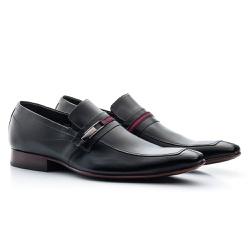 Sapato Social Classic Tipo Italiano Em Couro Preto - Sapatos de Franca