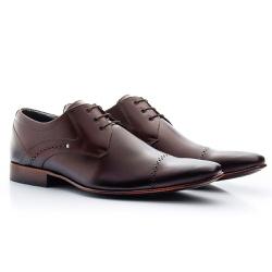 Sapato Social Clássico em Couro cor Mouro Ref.1479... - Sapatos de Franca