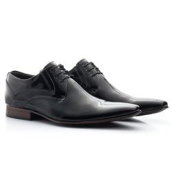 Sapato Social Clássico em Verniz cor Preto - Sapatos de Franca
