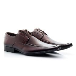 Sapato Social Clássico em Couro Legitimo Cor Mouro - Sapatos de Franca
