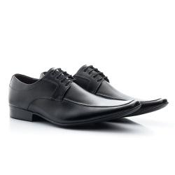 Sapato Social Clássico Em Couro Legitimo Cor Preto - Sapatos de Franca