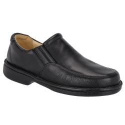 Sapato Anti-Stress em Couro Cor Preto Ref.1419-50... - Sapatos de Franca