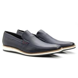Sapato Social Tiguan Marinho - Sapatos de Franca