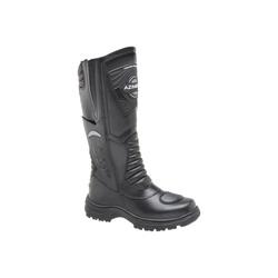 Bota Militar De Cano Alto Em Couro Cor Preto - 395... - Sapatos de Franca