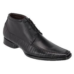 Bota Social Masculina Em Couro Cor Preta Ref.1402-... - Sapatos de Franca