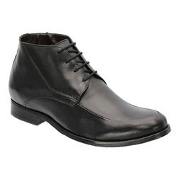 Bota Social Masculina Em Couro Preta Ref.1400-1025 - Sapatos de Franca