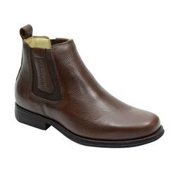 Botina Gel Confort Country Em Couro Cor Café Ref. ... - Sapatos de Franca