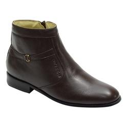 Botina Social Em Couro Cor Café Ref. 1103-701 - Sapatos de Franca