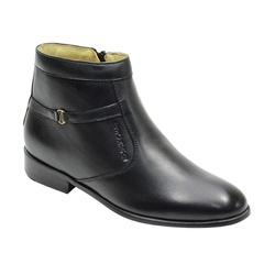Botina Social Conforto Em Couro Cor Preto Ref. 110... - Sapatos de Franca