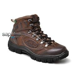 Coturno Adventure Em Couro Na Cor Caqui 279-603 - Sapatos de Franca